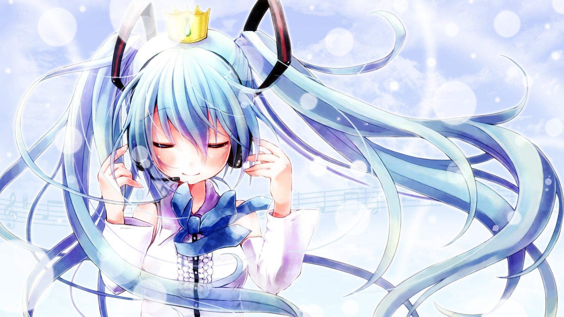 Anime - Vocaloid  Crown Hatsune Miku Wallpaper