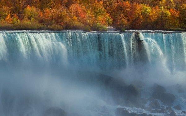 Earth Waterfall Waterfalls Nature Fall Foam HD Wallpaper | Background Image