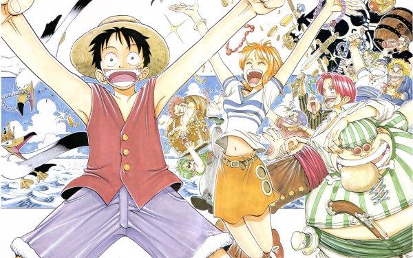 Anime One Piece Nami Monkey D. Luffy Shanks Fondo de pantalla HD | Fondo de Escritorio