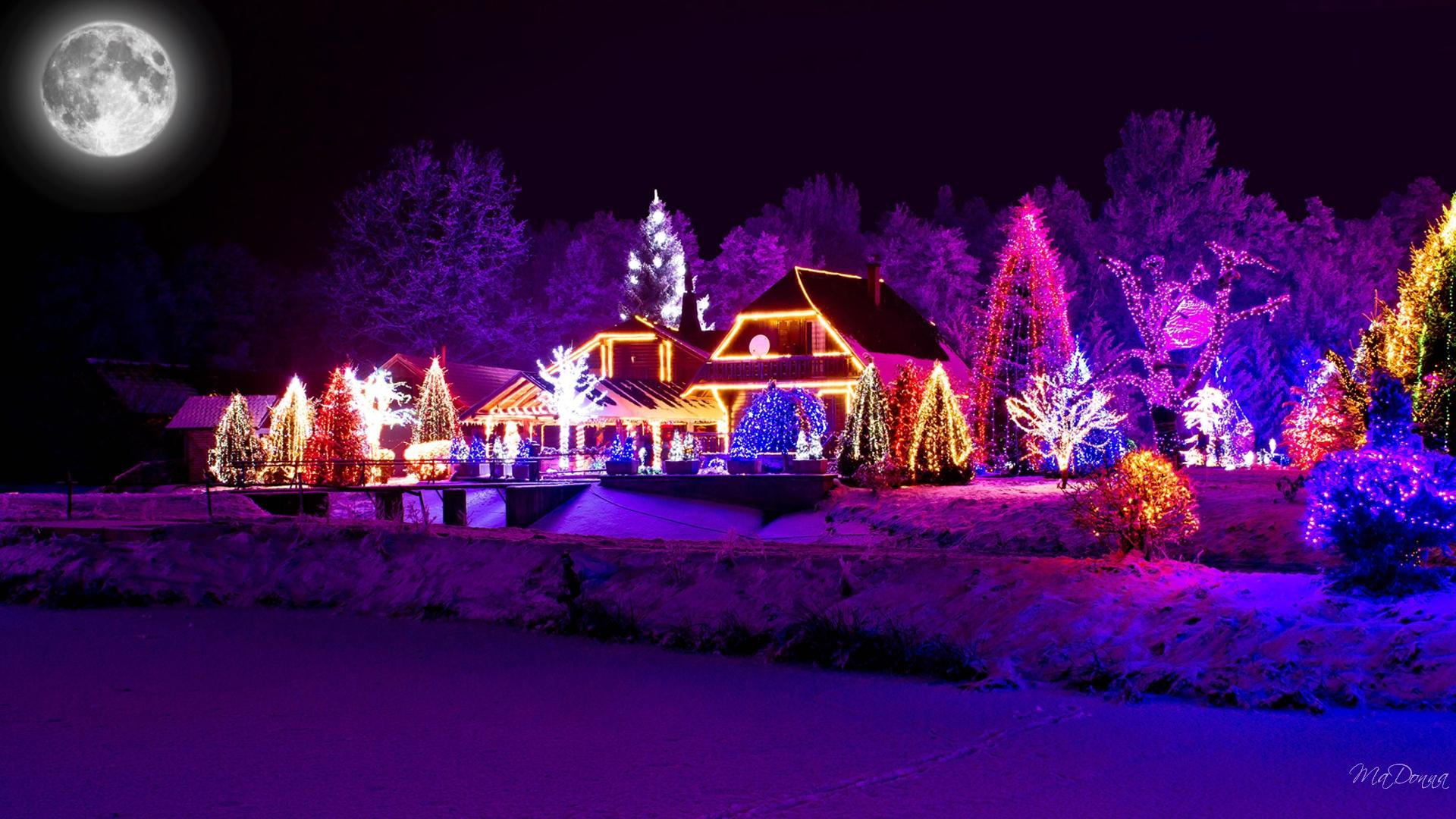 Christmas Lights HD Wallpaper | Background Image ...