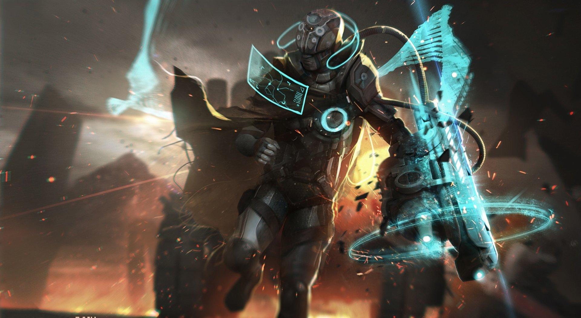 Sci Fi - Cyborg  Warrior Weapon Wallpaper