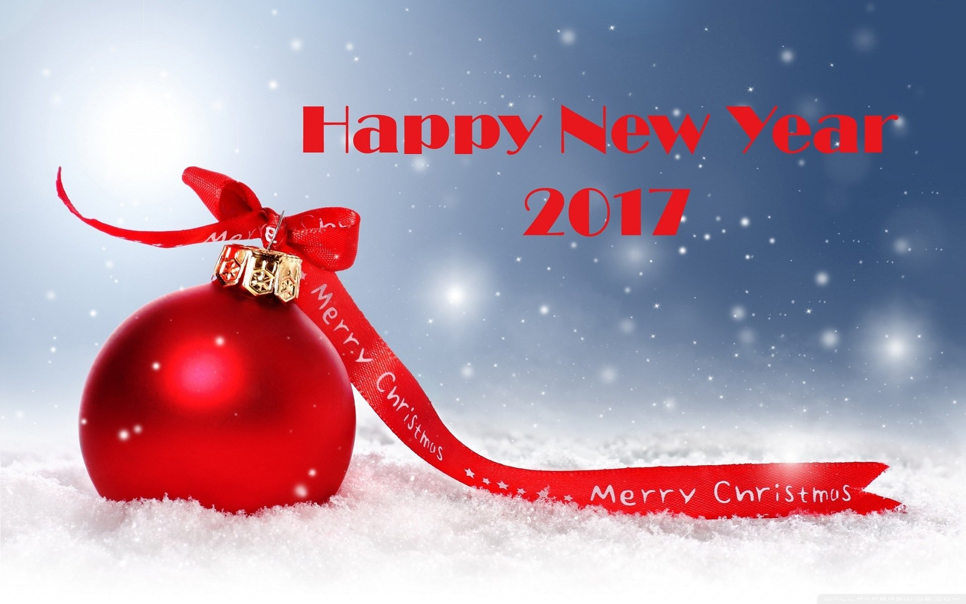 Holiday - New Year 2017  Holiday Christmas Ornaments Red Merry Christmas Wallpaper