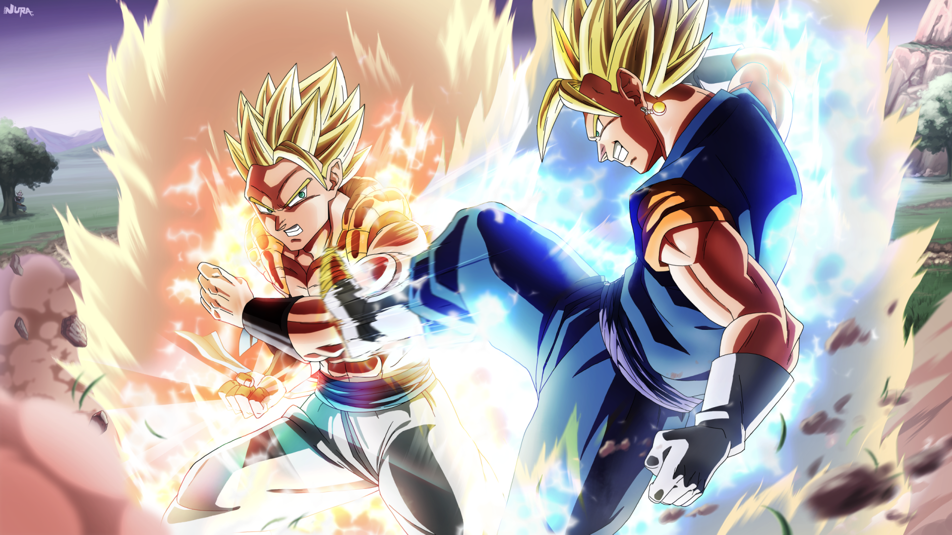 Anime - Dragon Ball Z  Vegito (Dragon Ball) Gogeta (Dragon Ball) Bakgrund