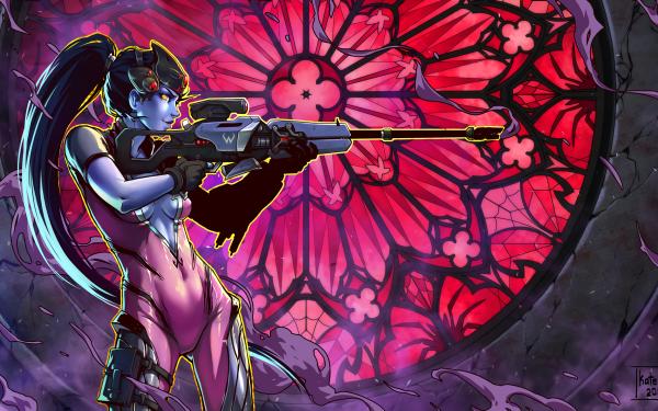 Video Game Overwatch Widowmaker HD Wallpaper | Background Image