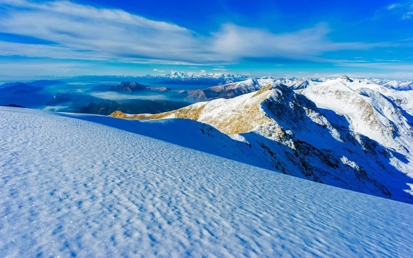 Earth Mountain Mountains Winter Nature Italy Snow HD Wallpaper | Background Image