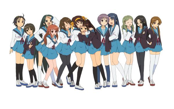 Anime The Melancholy Of Haruhi Suzumiya Haruhi Suzumiya Mikuru Asahina Yuki Nagato Emiri Kimidori HD Wallpaper | Background Image