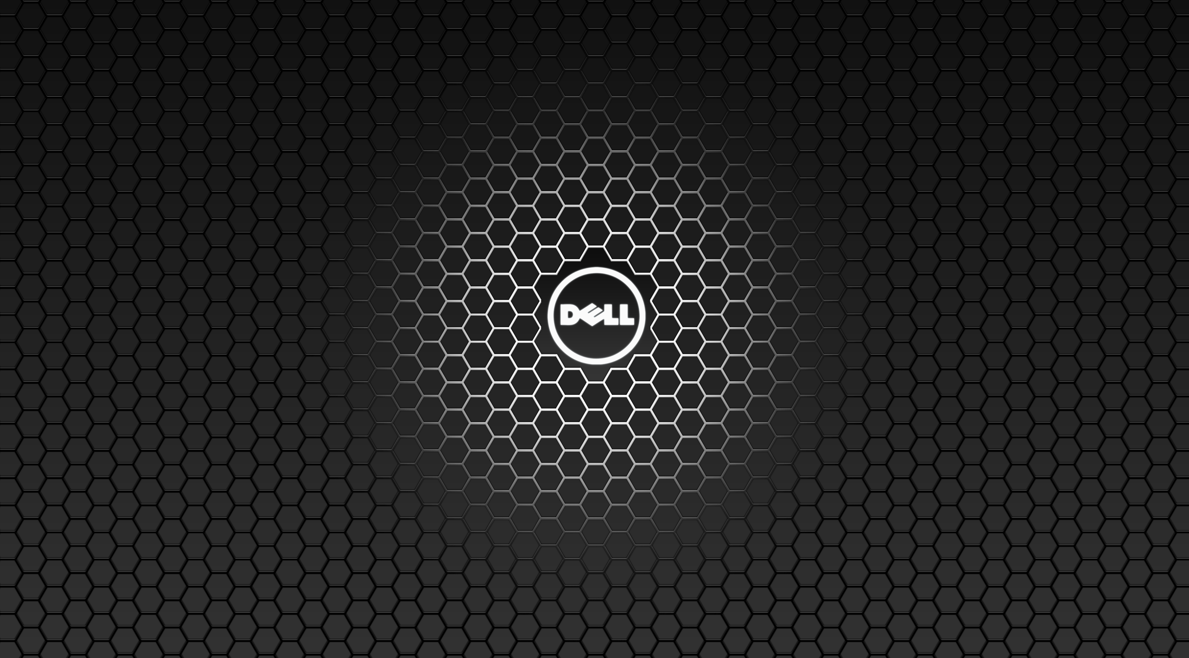 technology dell black hexagon wallpaper