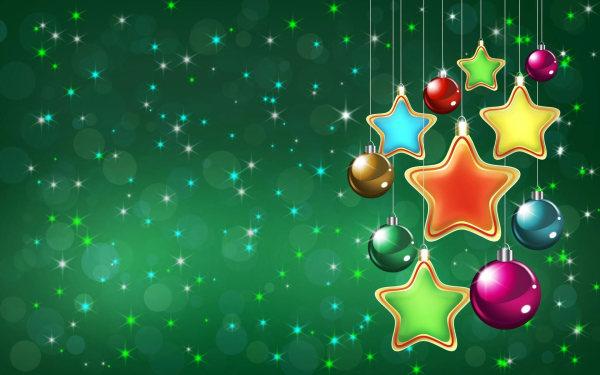 Holiday Christmas Christmas Ornaments Star Colorful Sparkles HD Wallpaper   Background Image
