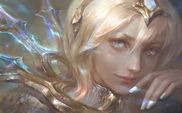 Videojuego League Of Legends Lux Cara Rubia Blue Eyes Fondo de pantalla HD | Fondo de Escritorio