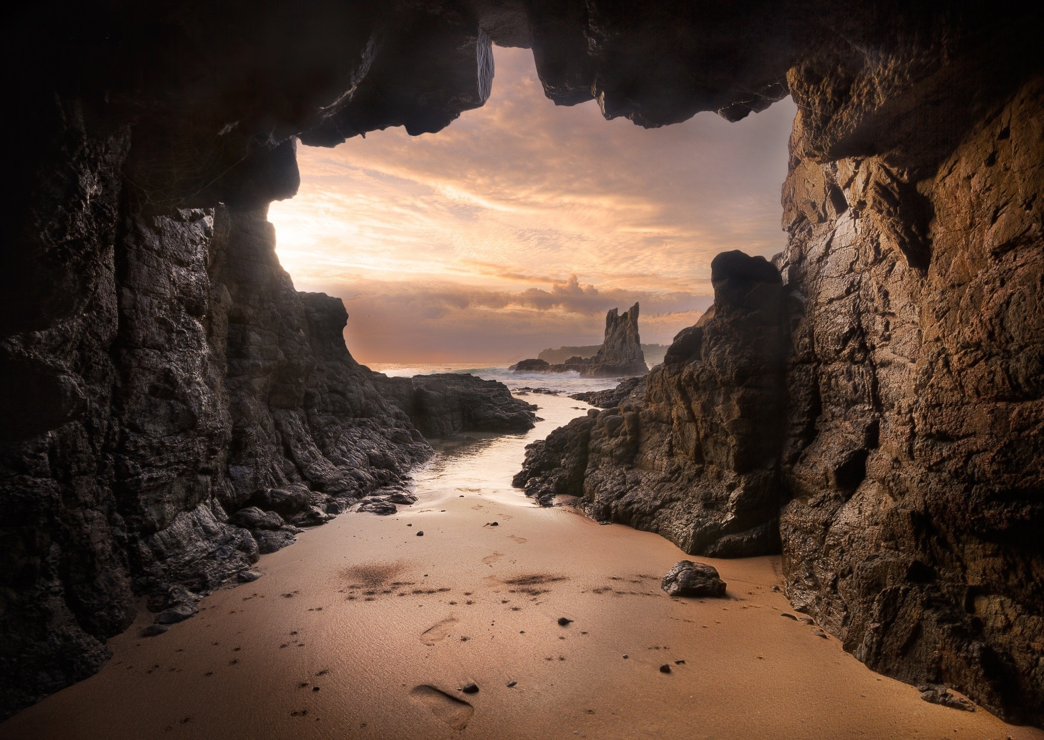 Wallpaper Cave: View From Beach Cave HD Wallpaper