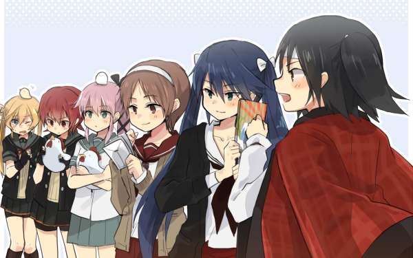 Anime Kantai Collection Abukuma Isuzu Kinu Nagara Natori Yura HD Wallpaper | Background Image