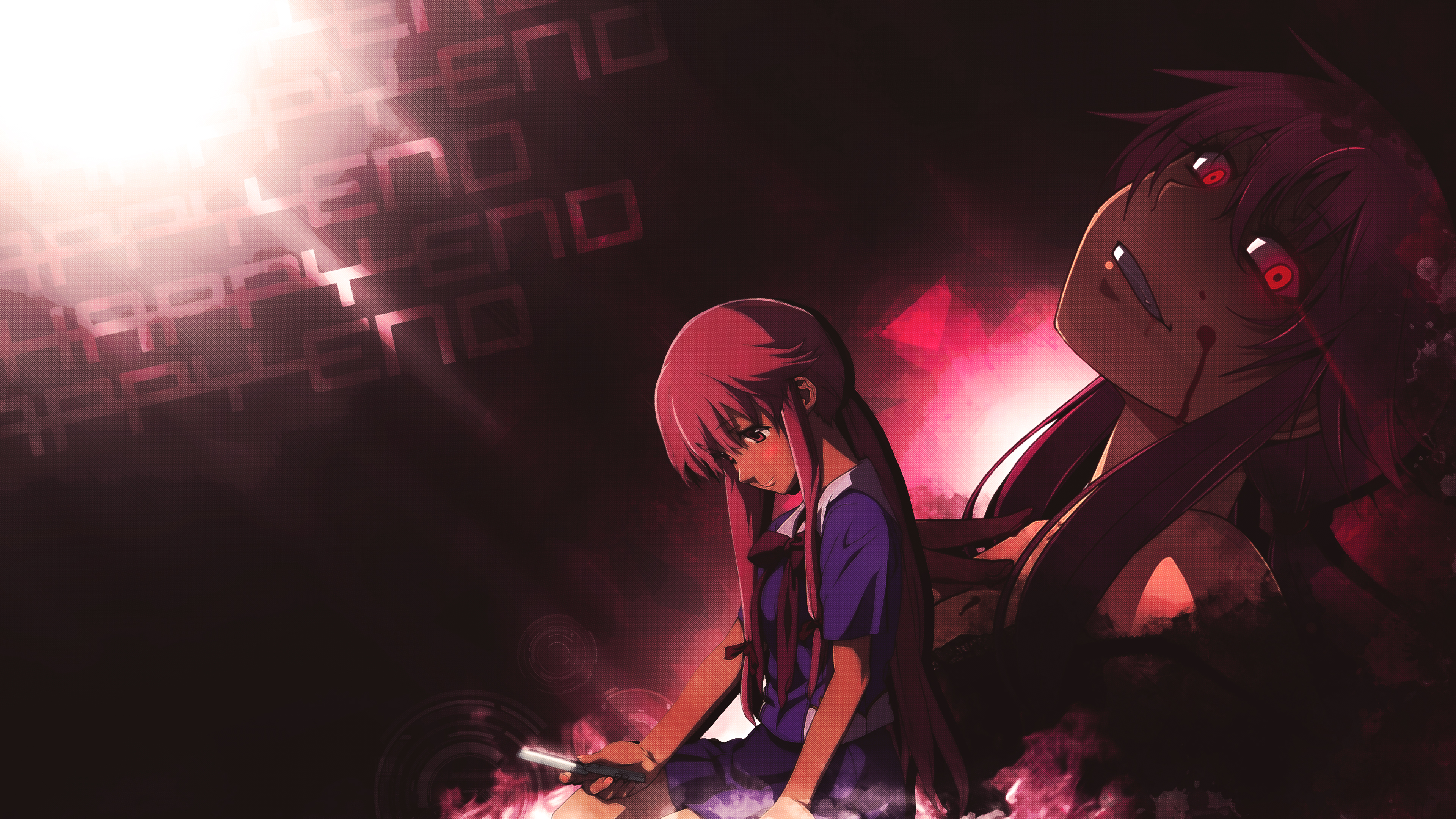 Gasai Yuno Wallpaper: Mirai Nikki 4k Ultra HD Wallpaper