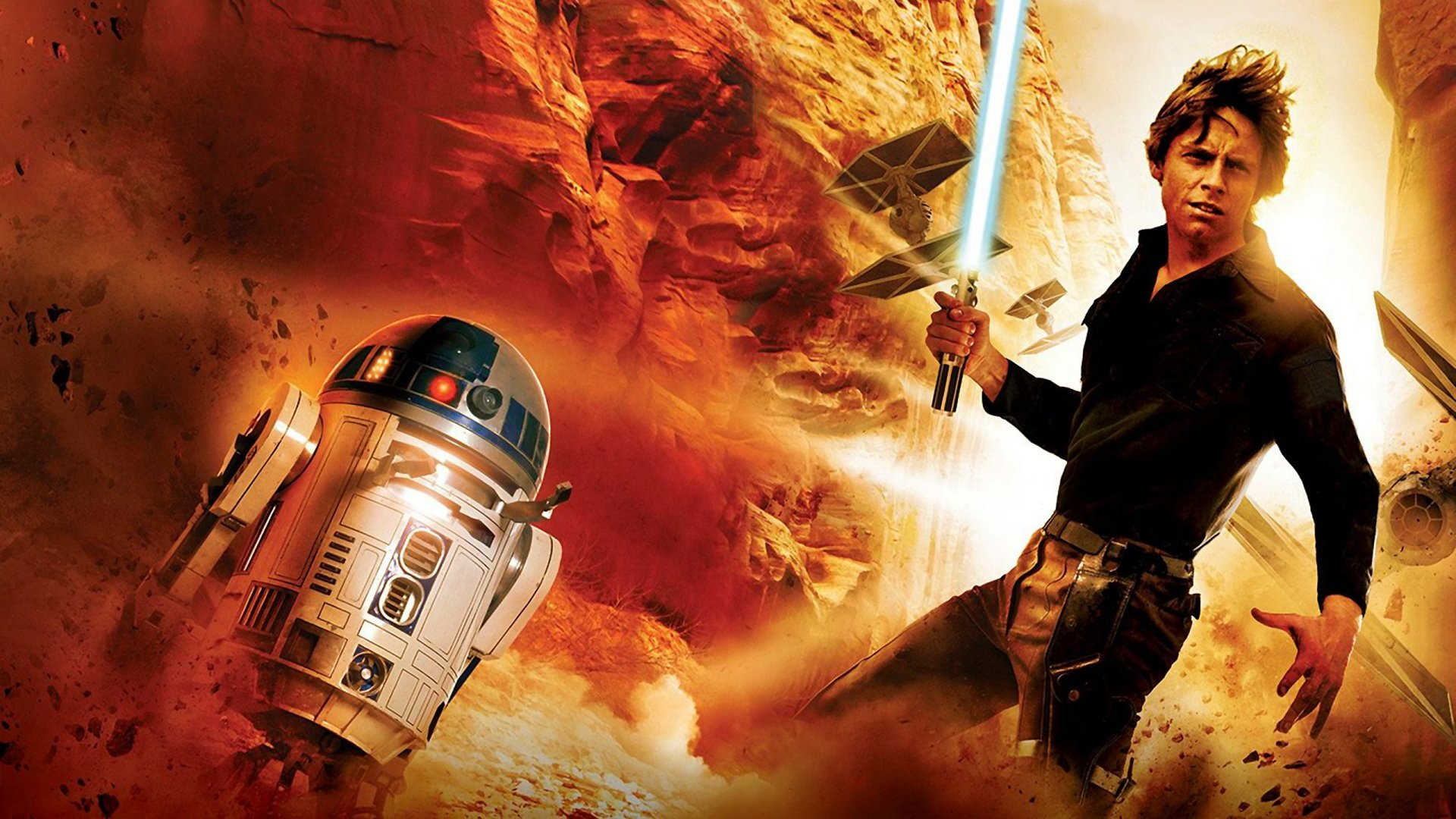 Movie - Star Wars  Luke Skywalker Lightsaber R2-D2 Wallpaper