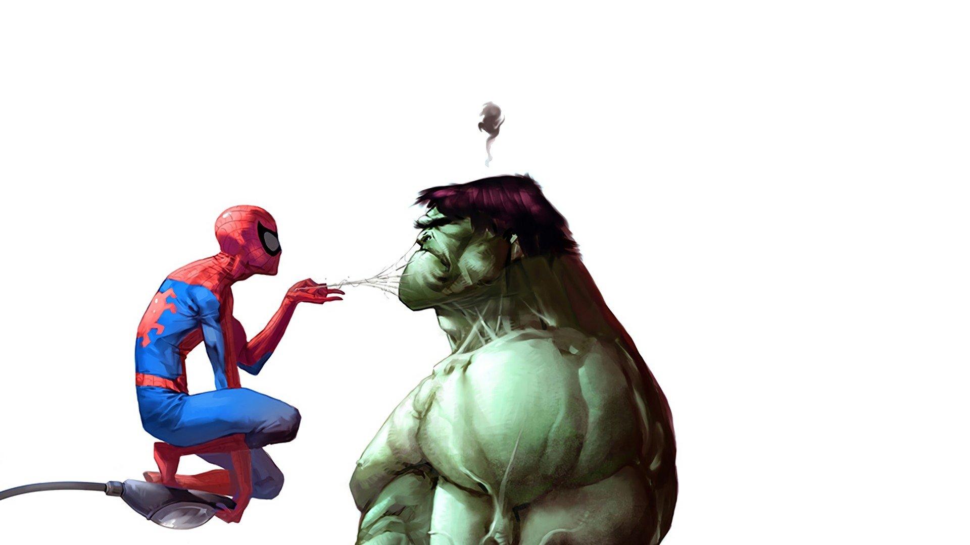 Comics - Marvel Comics  Hulk Comic Spider-Man Wallpaper