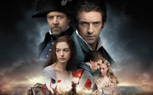 Movie Les Misérables (2012) Amanda Seyfried Anne Hathaway Russell Crowe Hugh Jackman Eddie Redmayne HD Wallpaper | Background Image