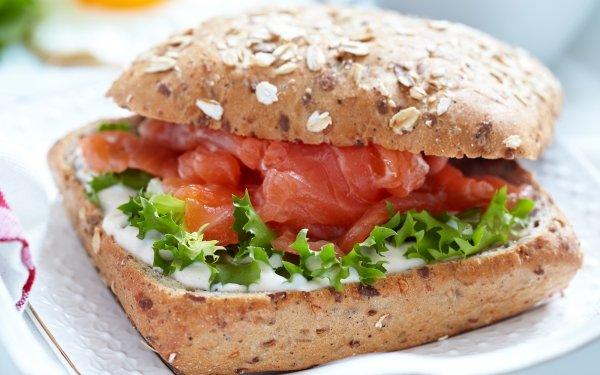 Alimento Sándwich Pan Pez Salmon Fondo de pantalla HD   Fondo de Escritorio