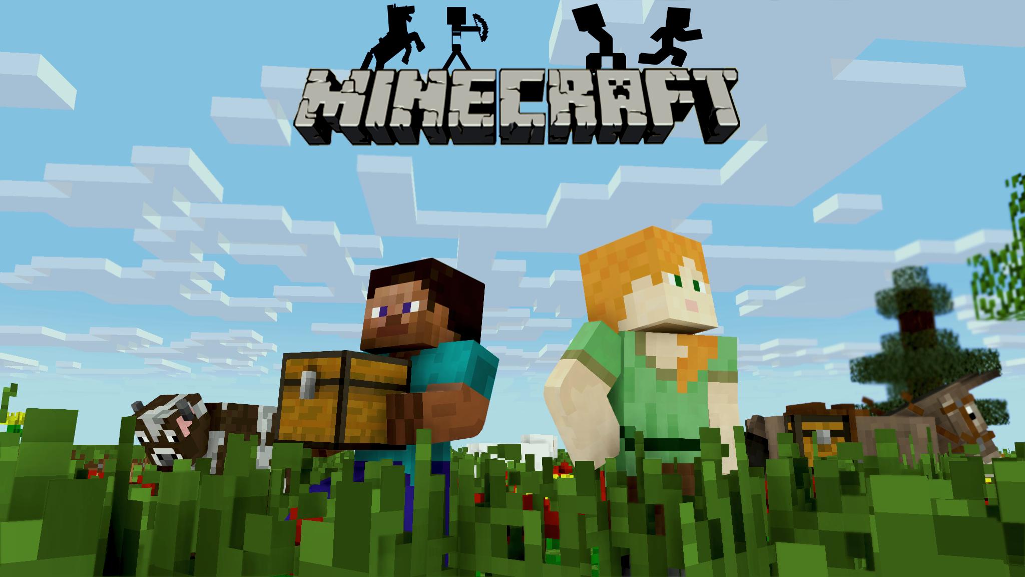 2048 By 1152 Of Minecraft: Steve & Alex HD Wallpaper