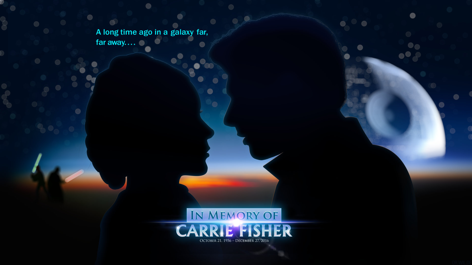 Celebrity - Carrie Fisher  Star Wars Wallpaper