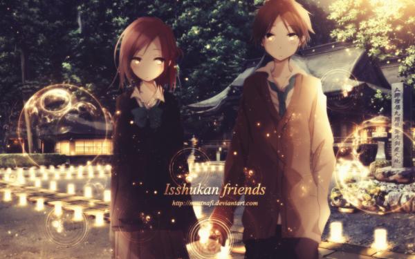 Anime One Week Friends Kaori Fujimiya Yūki Hase HD Wallpaper | Background Image