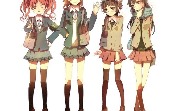 Anime A Certain Scientific Railgun A Certain Magical Index Kuroko Shirai Mikoto Misaka Ruiko Saten Kazari Uiharu HD Wallpaper | Background Image