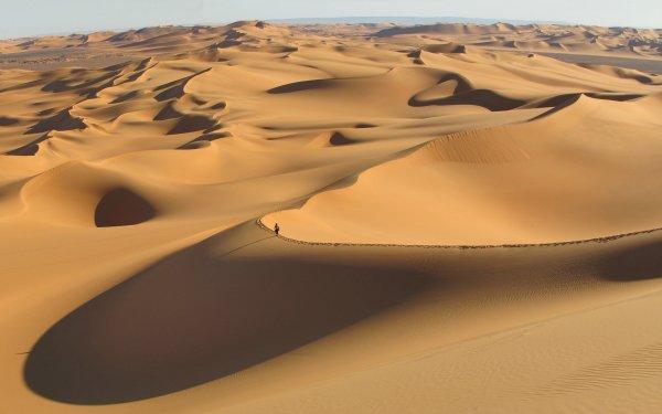 Earth Desert Algeria Sahara Sand Dune Africa Tassili N'Ajjer HD Wallpaper | Background Image