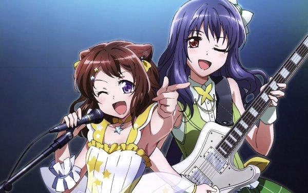 Anime BanG Dream! Kasumi Toyama Yuri Ushigome Fondo de pantalla HD | Fondo de Escritorio