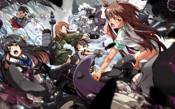 Anime Kantai Collection Kuma Murakumo Naganami Nagara Ooi Shikinami HD Wallpaper | Background Image