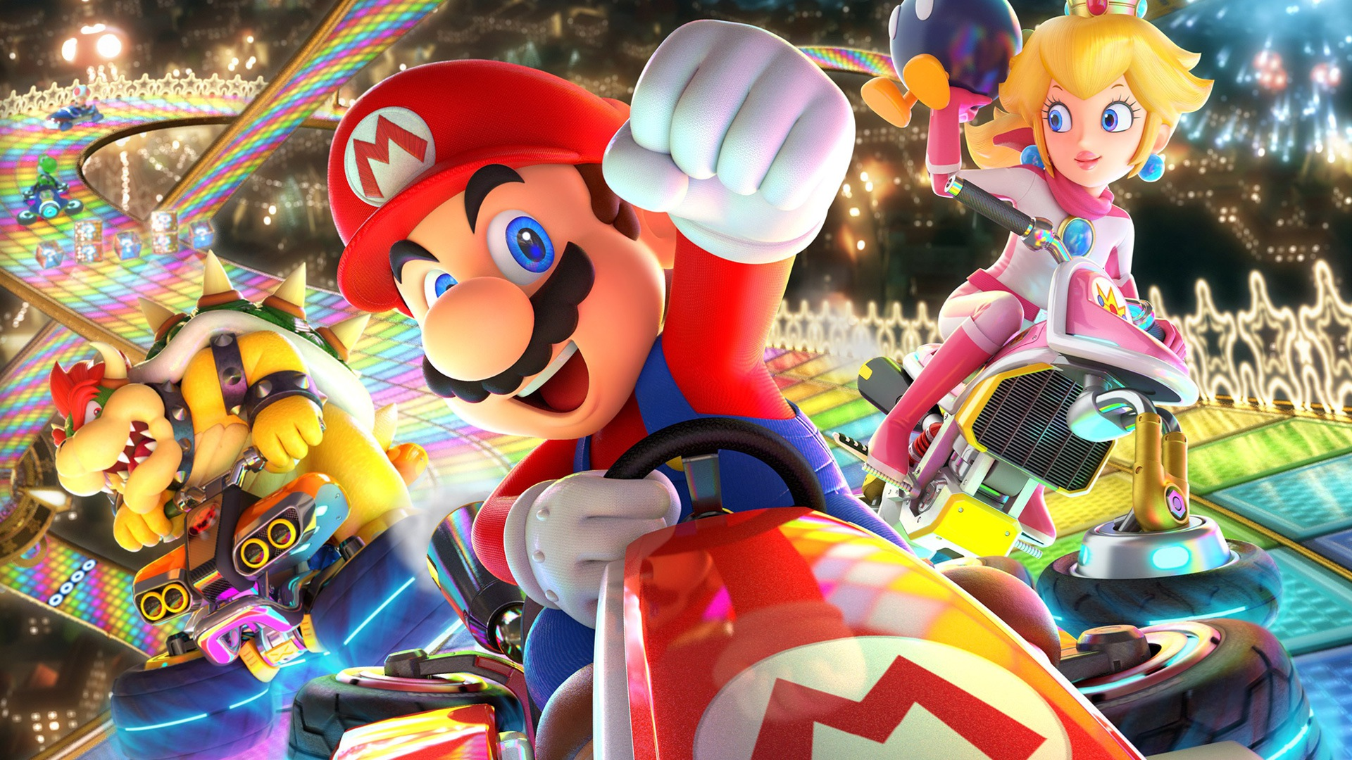 Mario Kart 8 Background: Mario Kart 8 Deluxe Full HD Wallpaper And Background