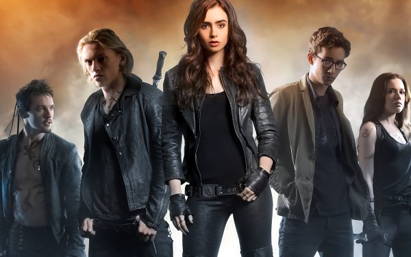 Movie The Mortal Instruments: City of Bones Jonathan Rhys Meyers Jamie Campbell Bower Robert Sheehan Lily Collins Jemima West HD Wallpaper   Background Image