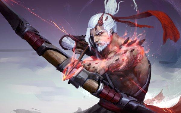 Jeux Vidéo Overwatch Hanzo White Hair Bow Guerrier Archer Beard Arrow Fond d'écran HD | Image