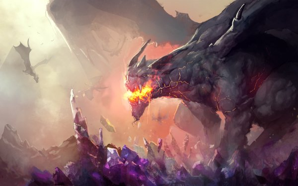 Fantasy Dragon Crystal HD Wallpaper   Background Image