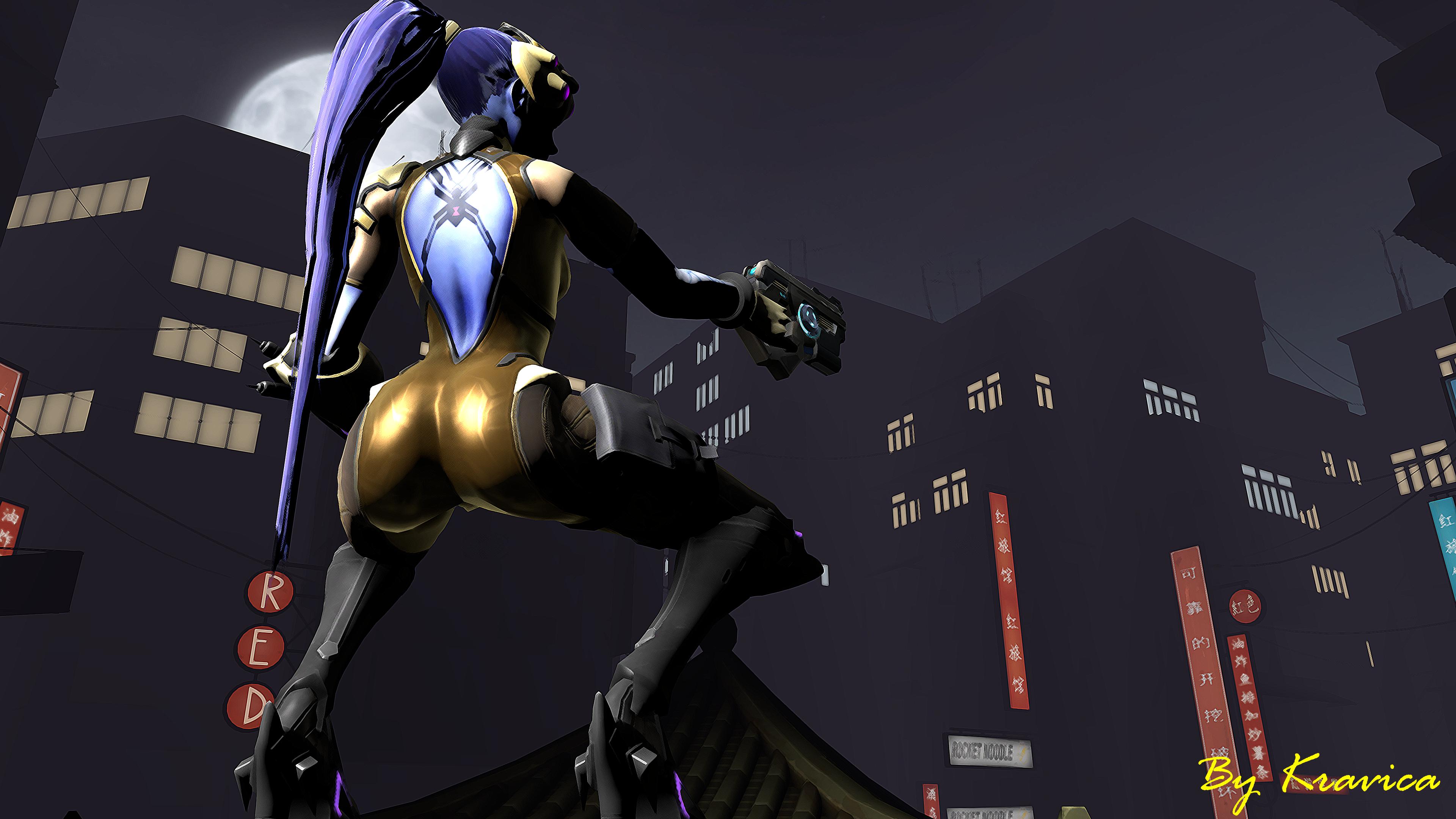 Overwatch Dual Screen Wallpaper: Widowmaker 4k Ultra HD Wallpaper