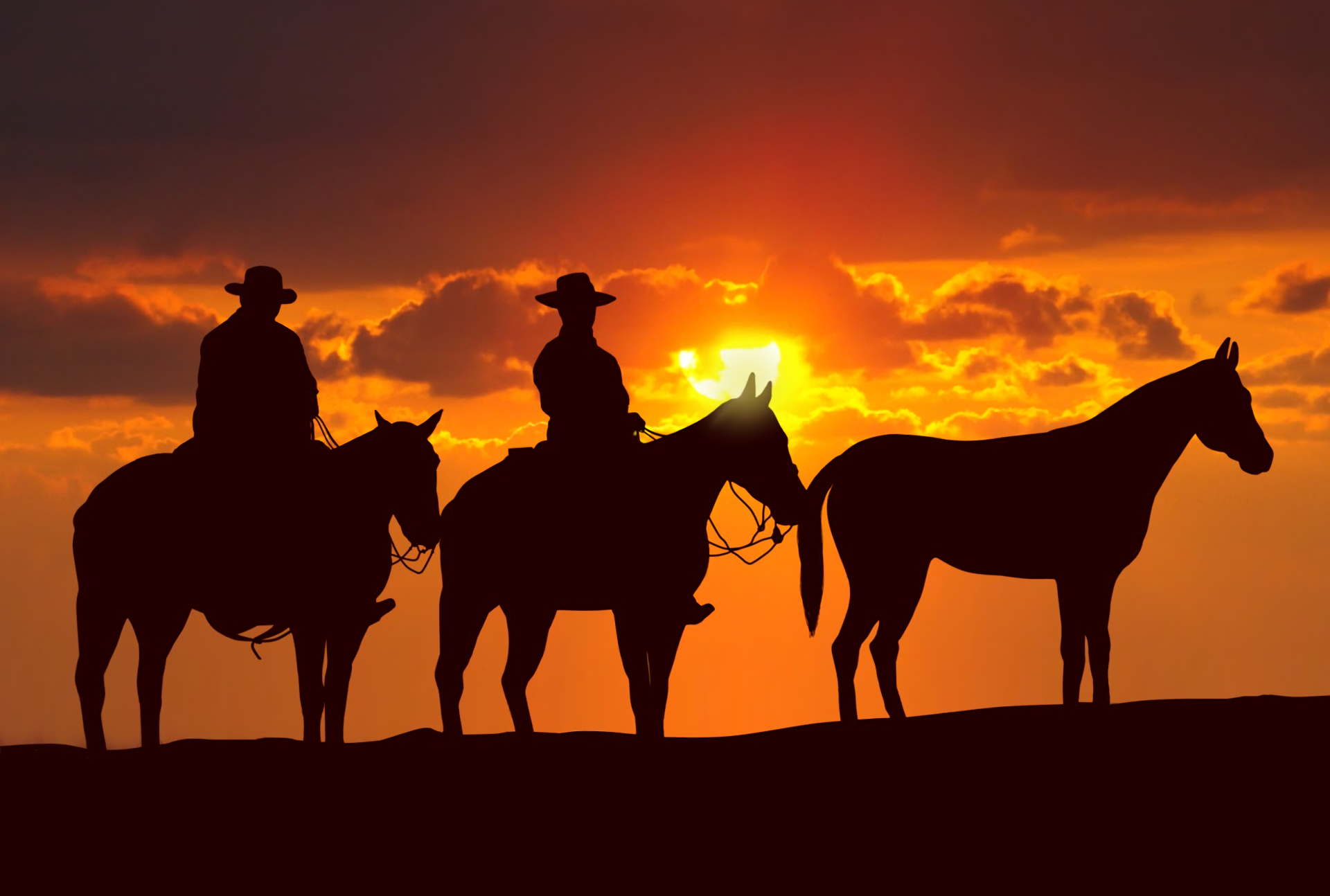 cowgirl silhouett wallpaper - photo #35