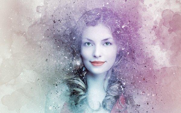 Women Artistic Woman Watercolor Girl Face HD Wallpaper | Background Image