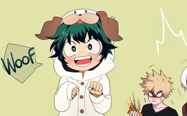 Anime My Hero Academia Izuku Midoriya Shoto Todoroki Katsuki Bakugou HD Wallpaper   Background Image