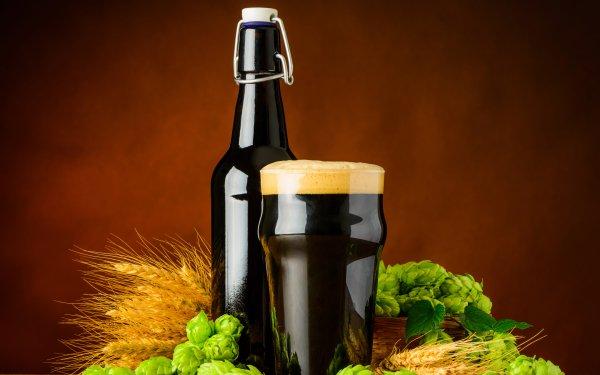 Food Beer Glass Still Life Hop Drink Alcohol Malt Bottle HD Wallpaper | Background Image