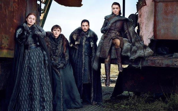 TV Show Game Of Thrones Kit Harington Jon Snow Maisie Williams Arya Stark Sophie Turner Sansa Stark Bran Stark Isaac Hempstead-Wright HD Wallpaper | Background Image