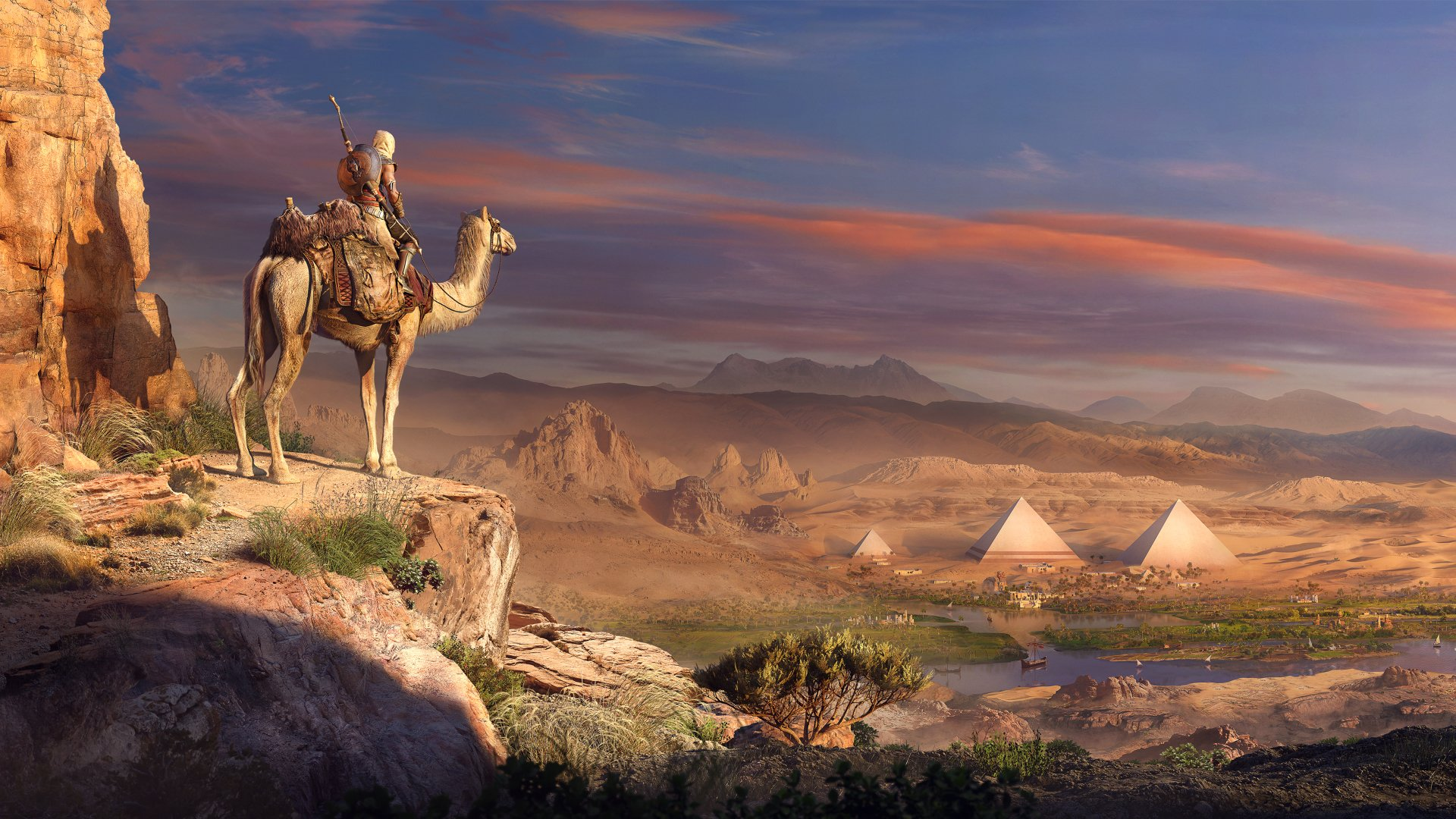 Video Game - Assassin's Creed Origins  Egypt Assassin's Creed Pyramid Desert Bayek Of Siwa Wallpaper
