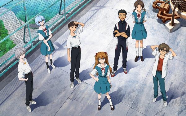 Anime Neon Genesis Evangelion Evangelion Kensuke Aida Rei Ayanami Hikari Horaki Shinji Ikari Kaworu Nagisa Asuka Langley Sohryu Toji Suzuhara Fondo de pantalla HD | Fondo de Escritorio