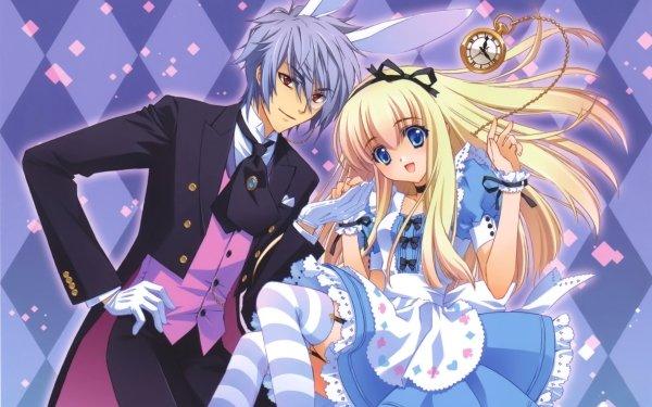 Anime Alice In Wonderland Alice White Rabbit HD Wallpaper | Background Image