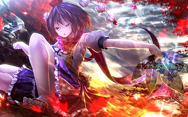 Anime Touhou Aya Shameimaru HD Wallpaper | Background Image