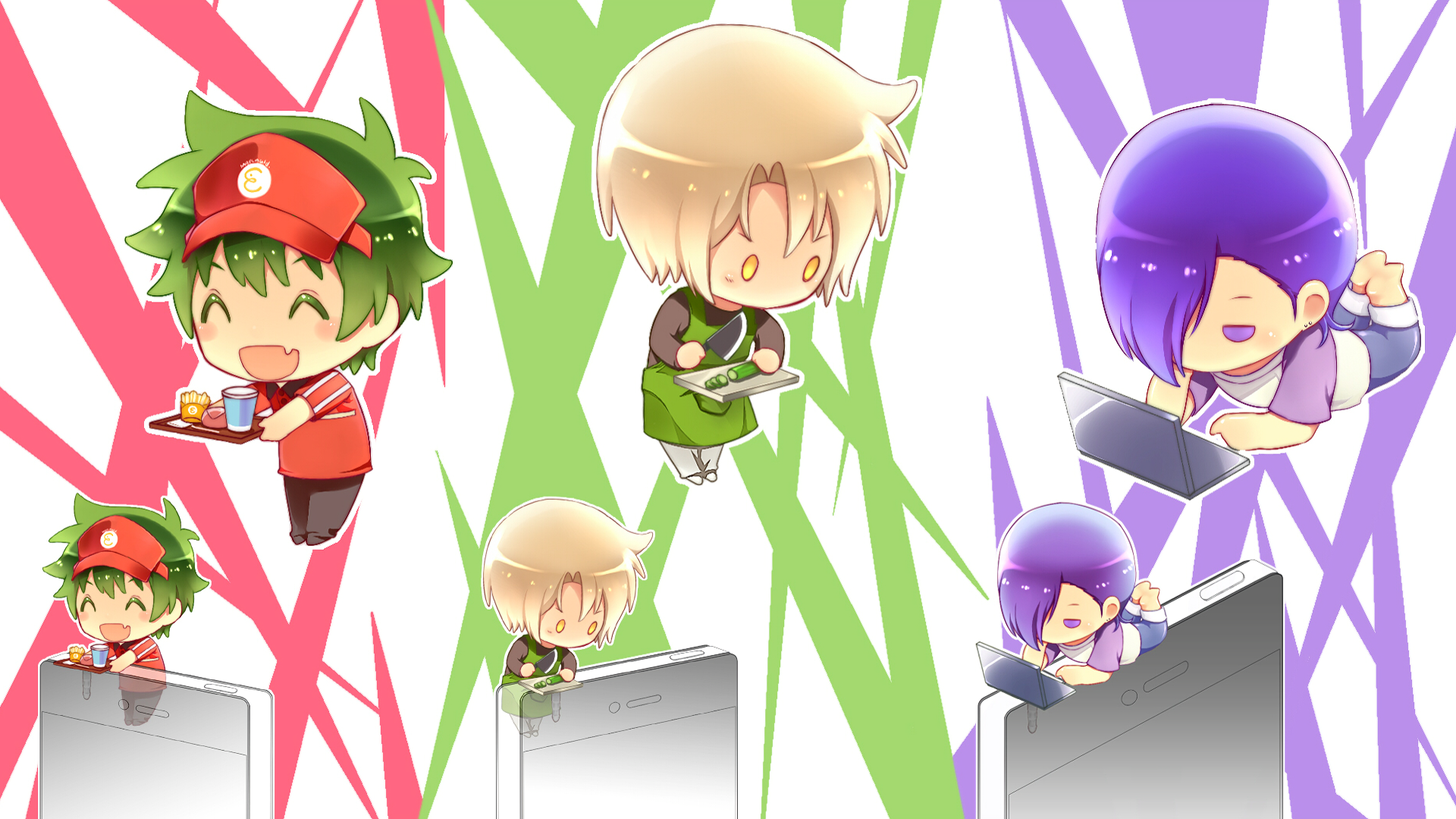 The Devil Is A Part Timer Hd Wallpaper Background Image