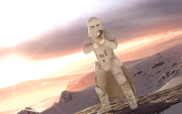 Video Game Star Wars Battlefront (2015) Star Wars Snowtrooper Snow Hoth Mountain HD Wallpaper | Background Image