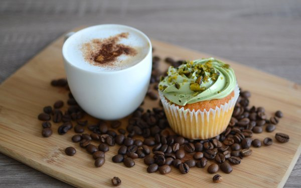 Food Coffee Coffee Beans Cup Cupcake HD Wallpaper | Background Image
