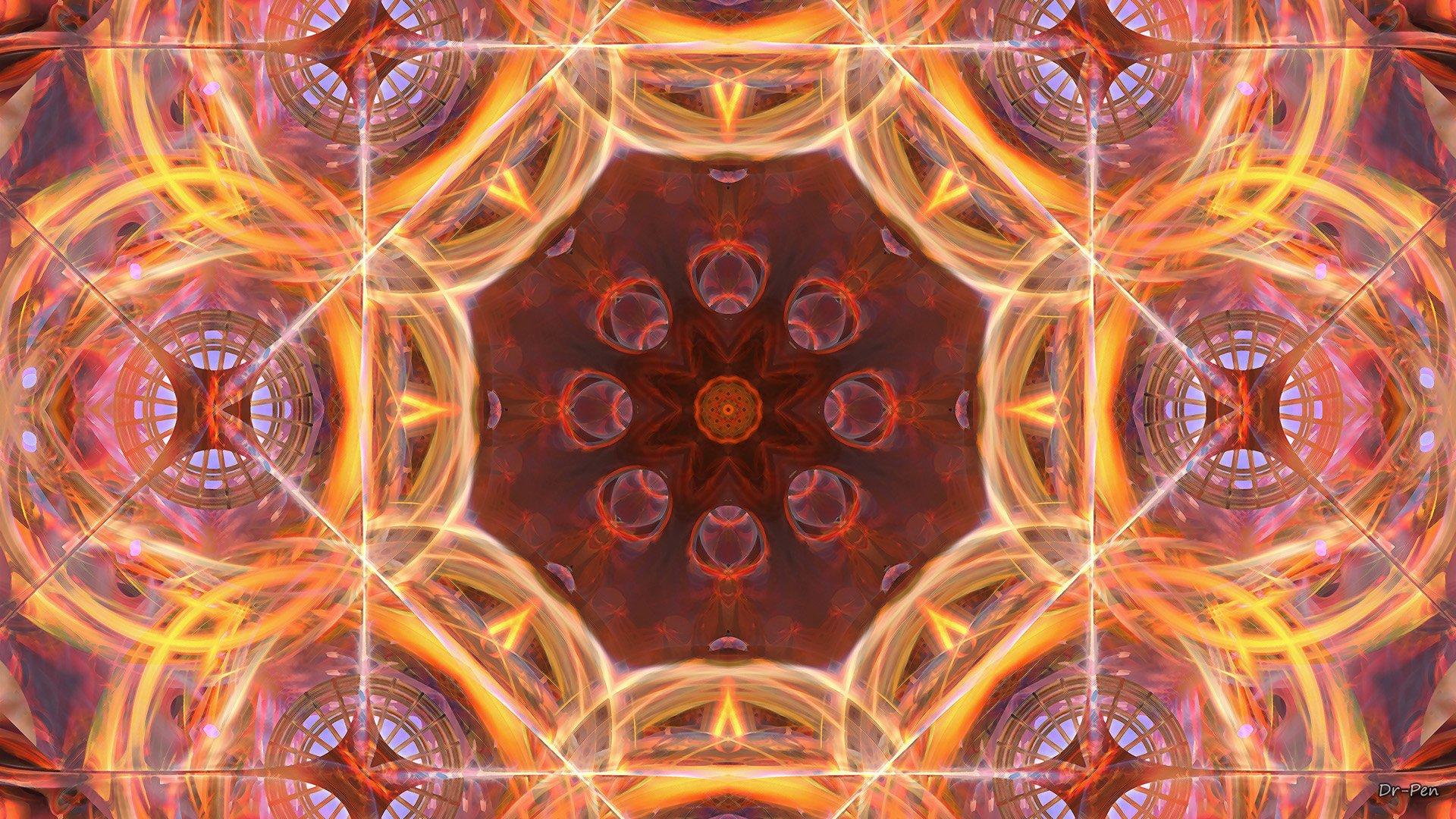 Abstract - Pattern  Abstract Artistic Digital Art Mandala Manipulation Wallpaper