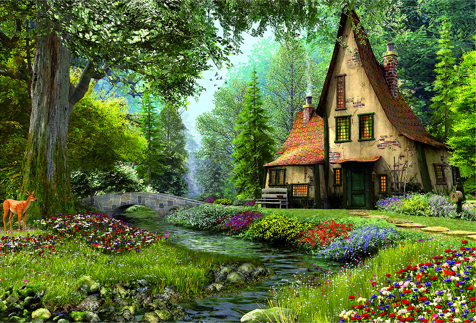 Airbnb Tiny Houses Fairytale House In The Forest Hd Wallpaper Background