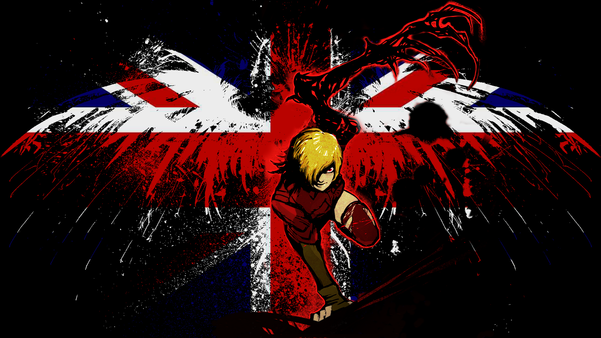 Hellsing Seras Victoria British Flag Fondo De Pantalla