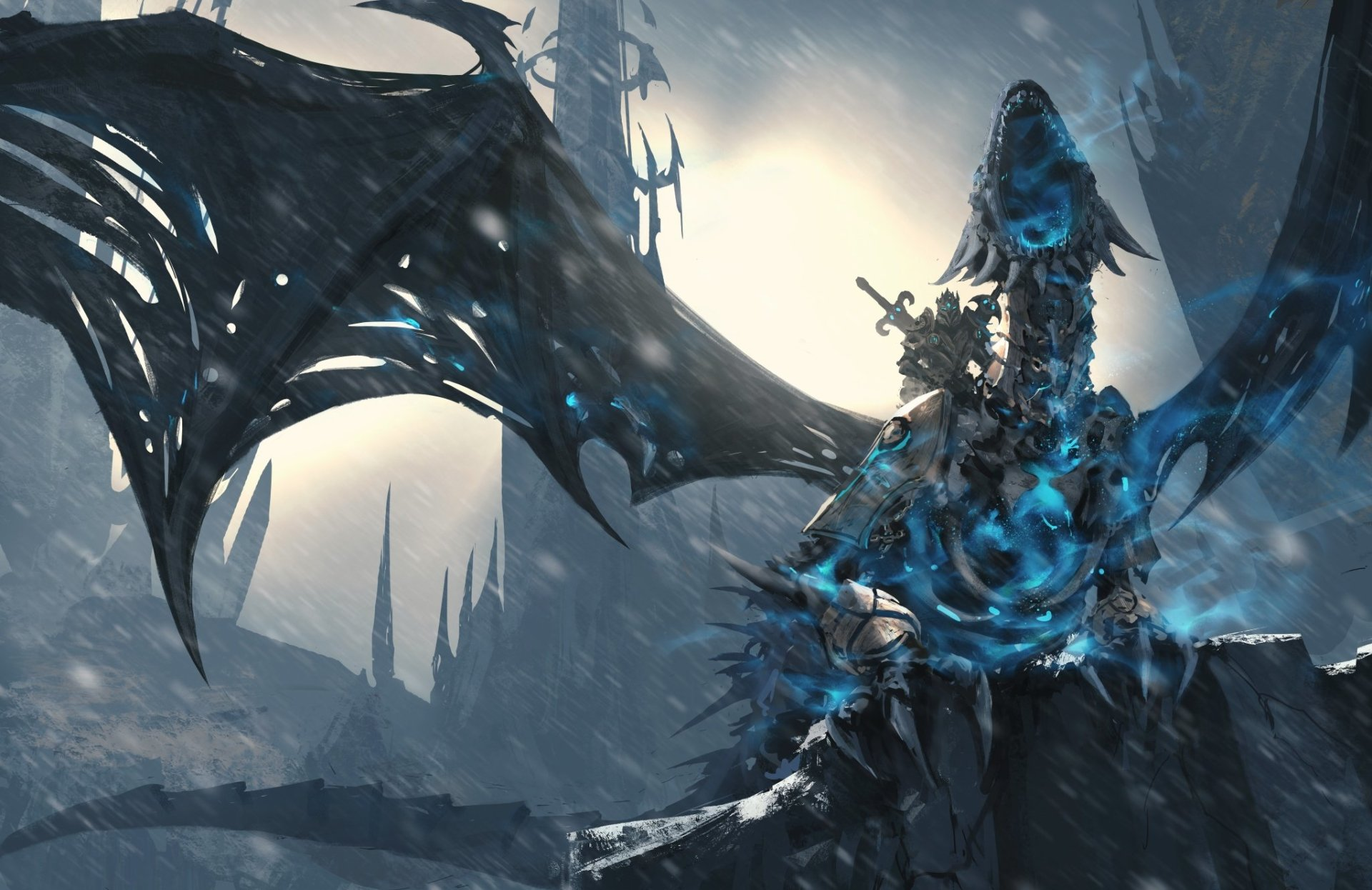 Video Game - World Of Warcraft: Wrath Of The Lich King  Lich King Dragon Warrior World of Warcraft Wallpaper