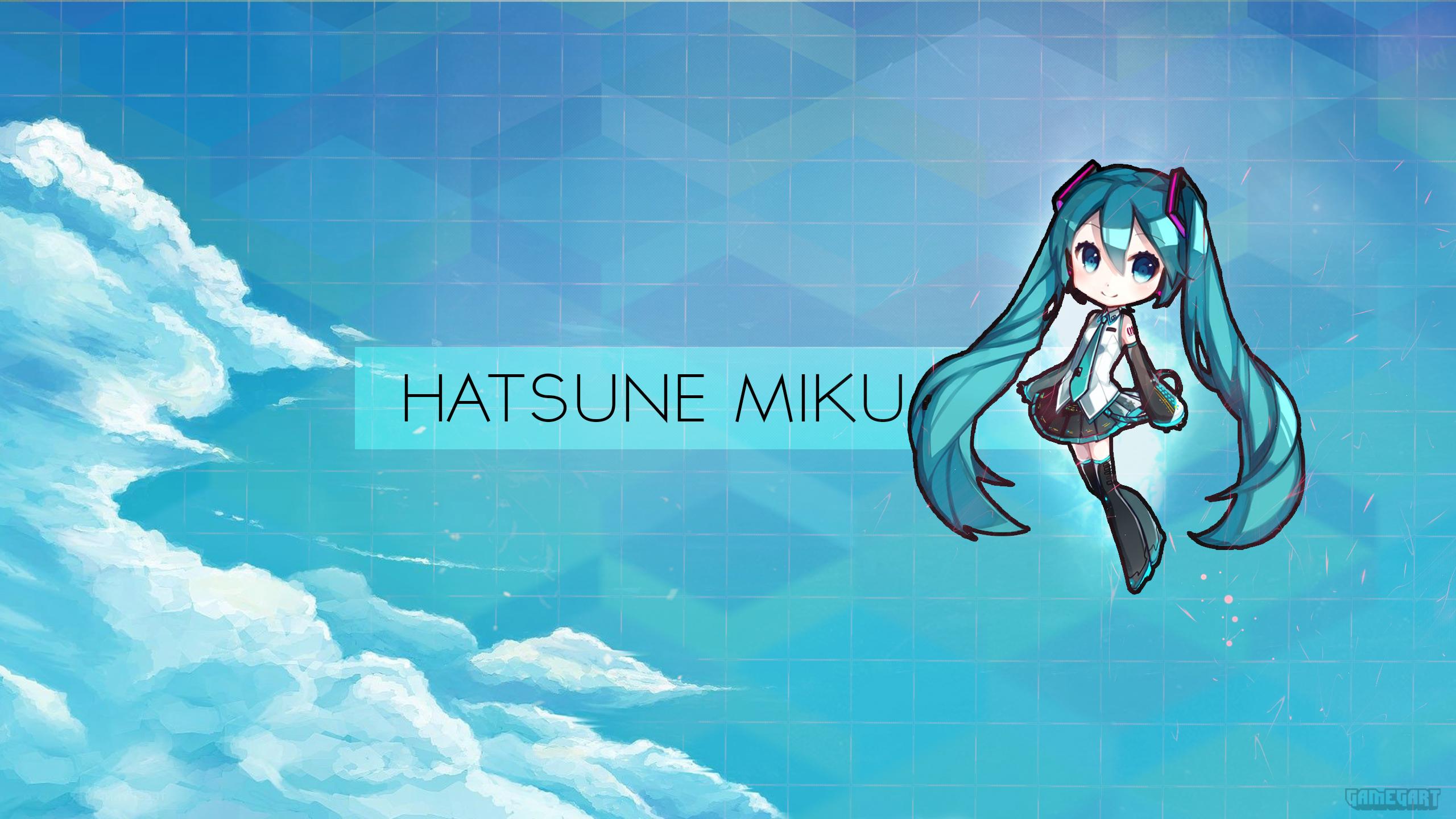 Chibi hatsune miku wallpaper fondo de pantalla hd fondo de escritorio 2560x1440 id 855034 - Chibi wallpaper hd ...