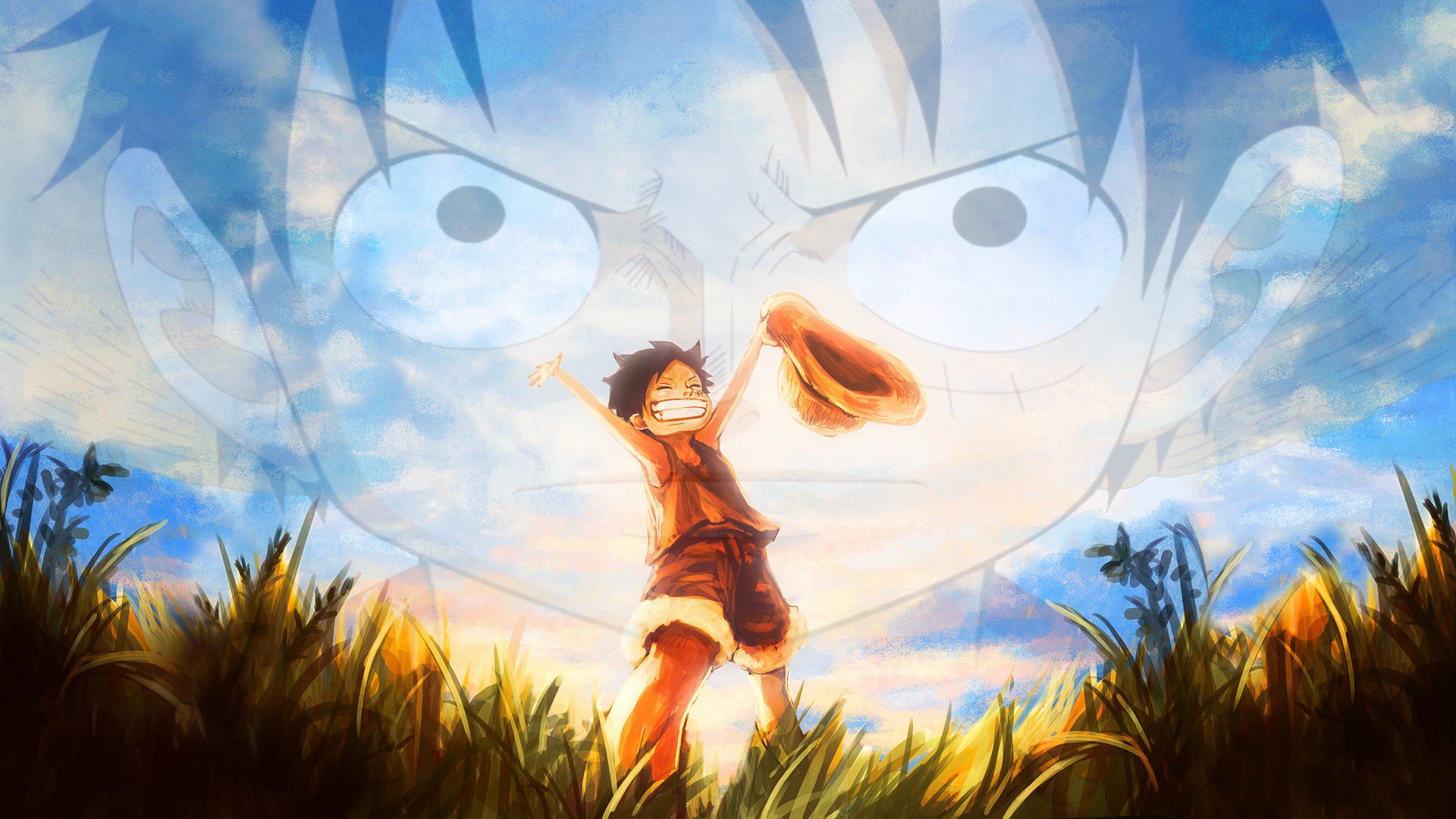 One Piece Young And Older Monkey D Luffy Hd Wallpaper Background Image 1920x1080 Id 857192 Wallpaper Abyss